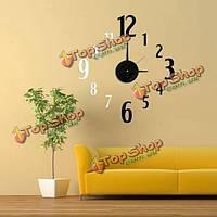 DIY 3D черный и белый номер арт дизайн настенные часы Ева декора дома стикера
