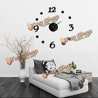 3D DIY номер пропуск бескаркасных украшения стены часы номере