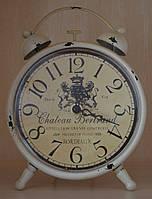 Винтажные настольные часы металлические