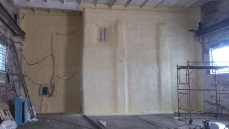 август 2016 года - утепление стен холодильной камеры