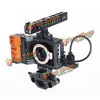 Bmpcc DSLR камеры установка кино защита клетка комплект с 15мм стержня верхней рукоятки для Blackmagic карман камеры