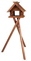 Кормушка для птиц деревянная, 47 × 40 × 36 см/1.40 м, коричневый