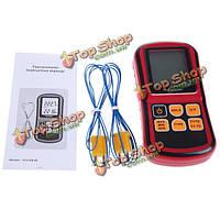 Gm1312 цифровой термометр двухканальный ЖК-дисплей измеритель температуры тестер для K/J/T/А/Р/S/N термопары