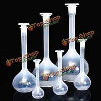 25ml до 1000мл прозрачный пластиковый объемный мерную колбу лаборатории инструмент подготовки реагента
