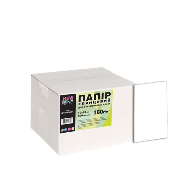 Фотобумага NewTone глянцевая 180г/м кв, 10см x 15см, 500л (G180.F500N)