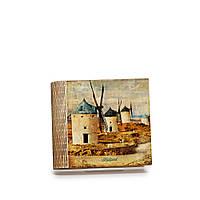 Шкатулка-книга на магните с 4 отделениями Ветряные мельницы