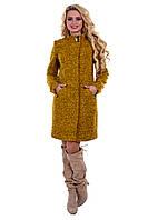 Женское красивое демисезонное шерстяное пальто арт. Сплит букле 6752