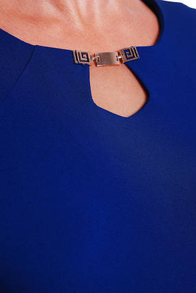 Женское платье приталенное Оливия цвет электрик до 58 размер / большие размеры, фото 2