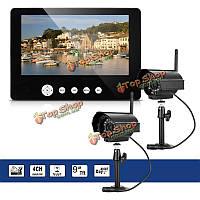 SYSD sy903e12 9-дюймов ЖК-монитор DVR комплект беспроводной домой видеонаблюдения системы безопасности с двумя цифровыми камерами