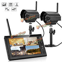 Эннио sy602e12 7 дюймов TFT цифровые камеры 2.4G беспроводной аудио-видео радионяни 4ch четверной системы безопасности Видеорегистратор