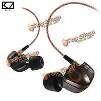 Kz съел медный магнитофон крюка уха водителя в спортивных наушниках наушника уха с микрофоном