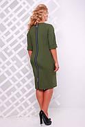 Женское платье приталенное Оливия цвет оливковый до 58 размер / большие размеры, фото 2