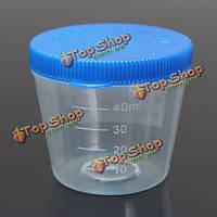 40мл одноразовые Clear закончил пластиковый контейнер образец образец чашку с крышкой