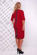 Женское платье приталенное Оливия цвет бордо до 58 размер / большие размеры, фото 2