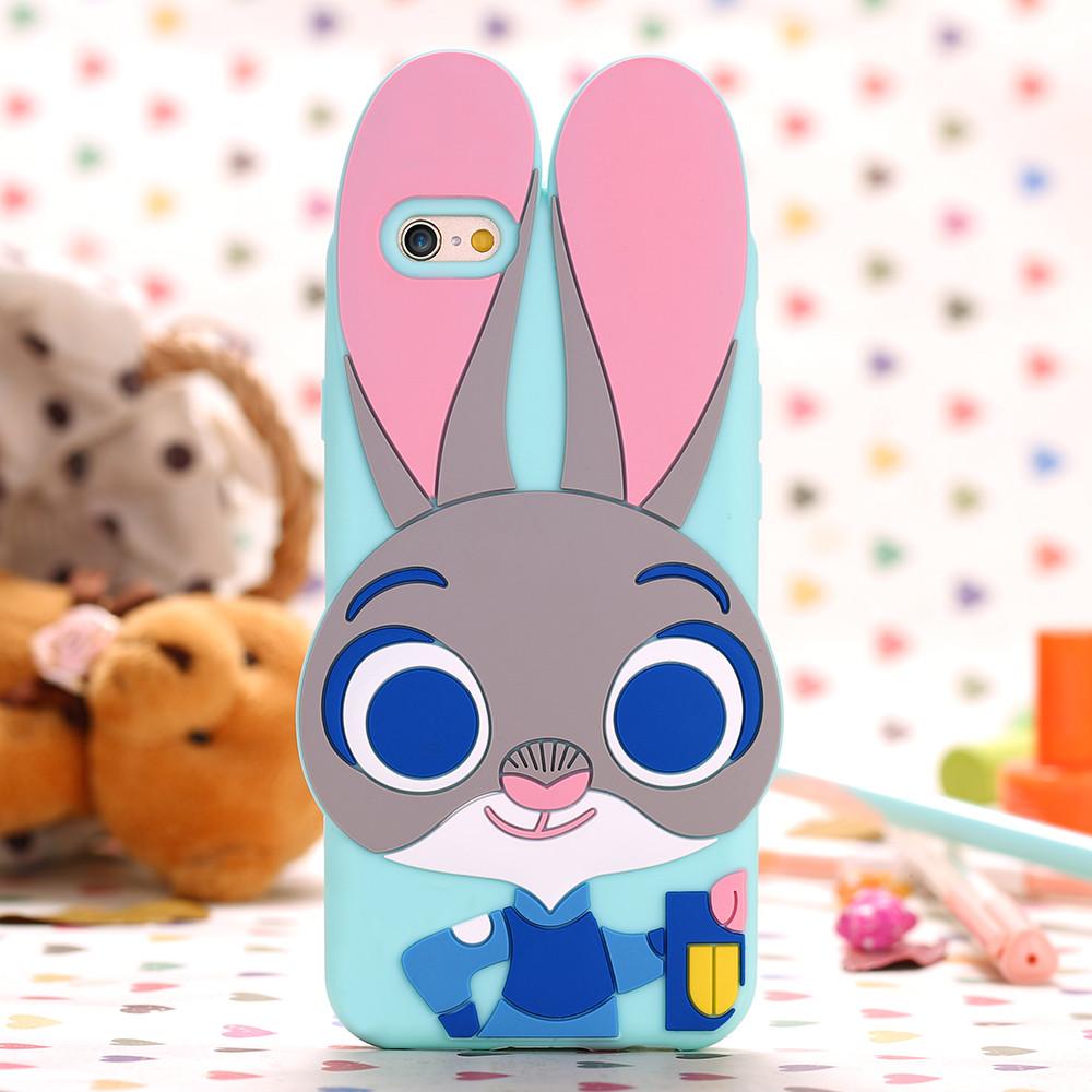 Чехол силиконовый Zootopia Rabbit Judy City 3D Cartoon для iPhone 5/5s