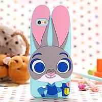 Чехол силиконовый Zootopia Rabbit Judy City 3D Cartoon для iPhone 6/6s