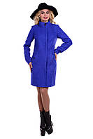 Женское качественное осеннее шерстяное пальто арт. Сплин букле 6758