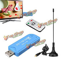 Цифровой dvb-t USB 2.0 sdr тыкать fm hdtv ТВ тюнер приемника палку для windows xp
