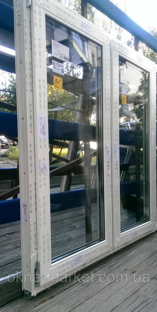 Двухстворчатые окна Rehau Ecosol, фирма Окна Маркет