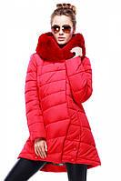 Яркая зимняя куртка Карима с меховым воротником утеплитель синтепух в расцветках