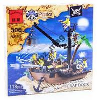 Brick 306 Конструктор Пиратcкий корабль 178 дет