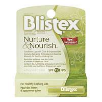 Защитный бальзам-стик для губ Blistex Nurture and Nourish Lip Protectant SPF 15 оливки/виноград