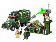 Конструктор Военный грузовик 308 дет Brick 811