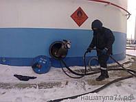 Зачистка резервуаров от остатков высоковязких нефтепродуктов Этот процесс предусматривает такие виды работ как