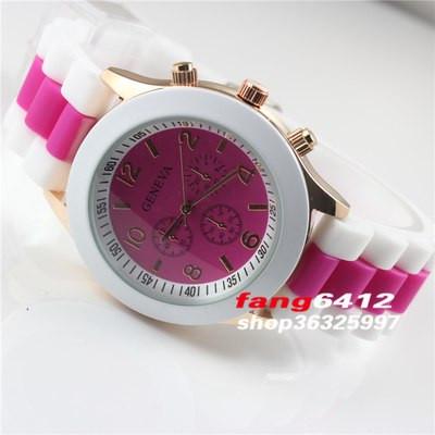 Годинник Полоска Рожево-Червоний