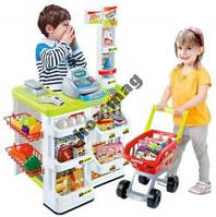 Игровой набор Супермаркет 668-03. Тележка, касса, продукты