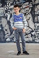 Детские штаны, цвет серый одежда для мальчиков 152-176