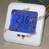 Сенсорный ЖК-экран цифровой программируемый комнатный термостат для подпольного отопления пола управления переменный ток 230 В 50/60 Гц 5-35 ?