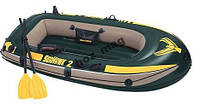 Intex 68347 Двухместная лодка с веслами и насососом