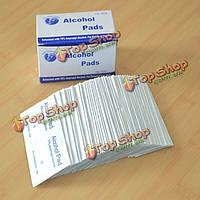 100шт antiphlogosis изопропиловом спирте тампоном колодки салфетку антисептическим чистка кожи уход