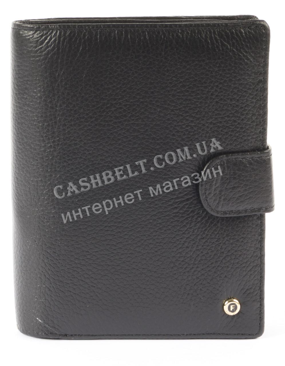Мужской стильный классический бумажник портмоне с натуральной качественной кожи  SALFEITE art. 2130 черн