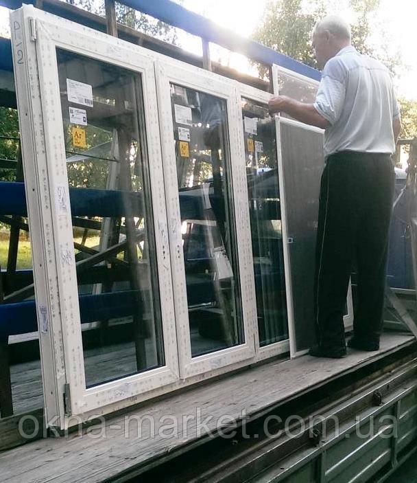 Доставка трёхчастого окна Rehau 70 на адрес, монтаж фирмы