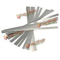 30шт никелированный стальной лист планка планка для АКБ точечной сварки 0.1x4x100мм