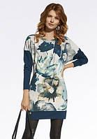 Женское современное трикотажное платье свободного кроя с абстракцией. Модель 220026 Enny, осень-зима 2016-2017