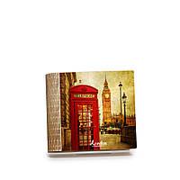 Шкатулка-книга на магните с 4 отделениями Яркий Лондон