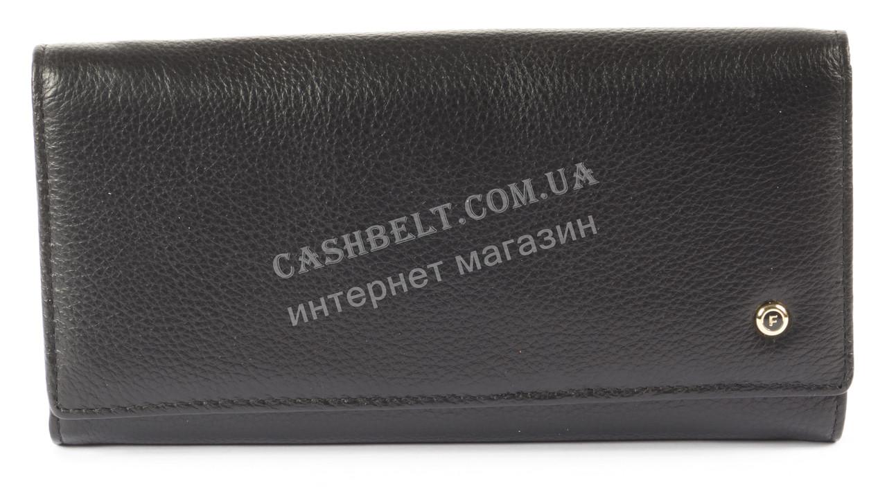 Стильный женский удобный кожаный кошелек SALFEITE art. 2101 черный