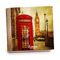 Шкатулка-книга на магните с 9 отделениями XL Яркий Лондон, фото 1