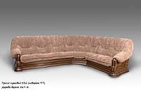 """Кожаный угловой диван """"Гризли"""" Курьер ткань, 340 см-280 см"""