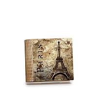 Шкатулка-книга на магните с 4 отделениями Париж в стиле ретро