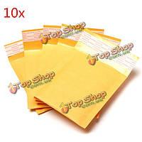 10шт 200 * 300мм 40мм + пузырь конверт желтого цвета крафт-бумаги мешок конверт почтовые