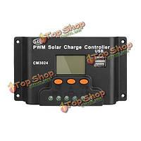 ЖК-30А ШИМ регулятор панели солнечных батарей контроллер заряда 12В/24В 360вт/720w