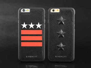 """Iphone 6 / 6S / 6 Plus оригинальный кожаный чехол панель бампер накладка НАТУРАЛЬНАЯ КОЖА звезды """" Givenchy """""""
