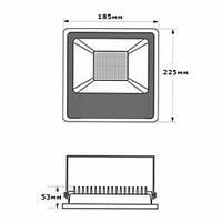 Светодиодный прожектор LEDEX 30Вт слим SMD 2700лм 6500К холодный белый 180º IP65 TL12734