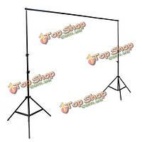 2x2м 6.5 футов професиональной фотографии фон фонов система поддержки трибун студии