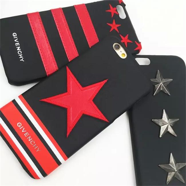 """Iphone 7 / 7 PLUS кожаный чехол панель накладка вышивка металл звезды НАТУРАЛЬНАЯ КОЖА """" Givenchy """""""