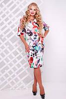 Женское романтичное платье Ксения цвет красный до 58 размер